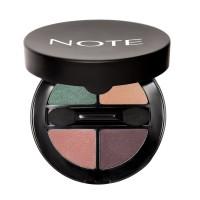 Phấn Mắt NOTE Luminous Silk Quattro Eyeshadow Vitamin E